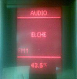 Record de temperatura en Elche: 43,5 grados