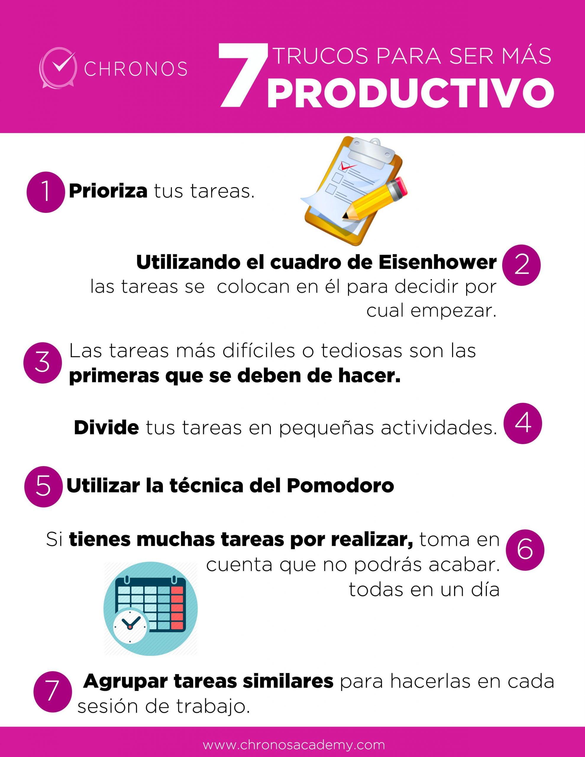5 sencillos trucos para ser mas productivos