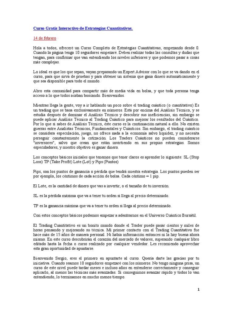 CURSO INTERACTIVO DE ESTRATEGIAS CUÁNTICAS