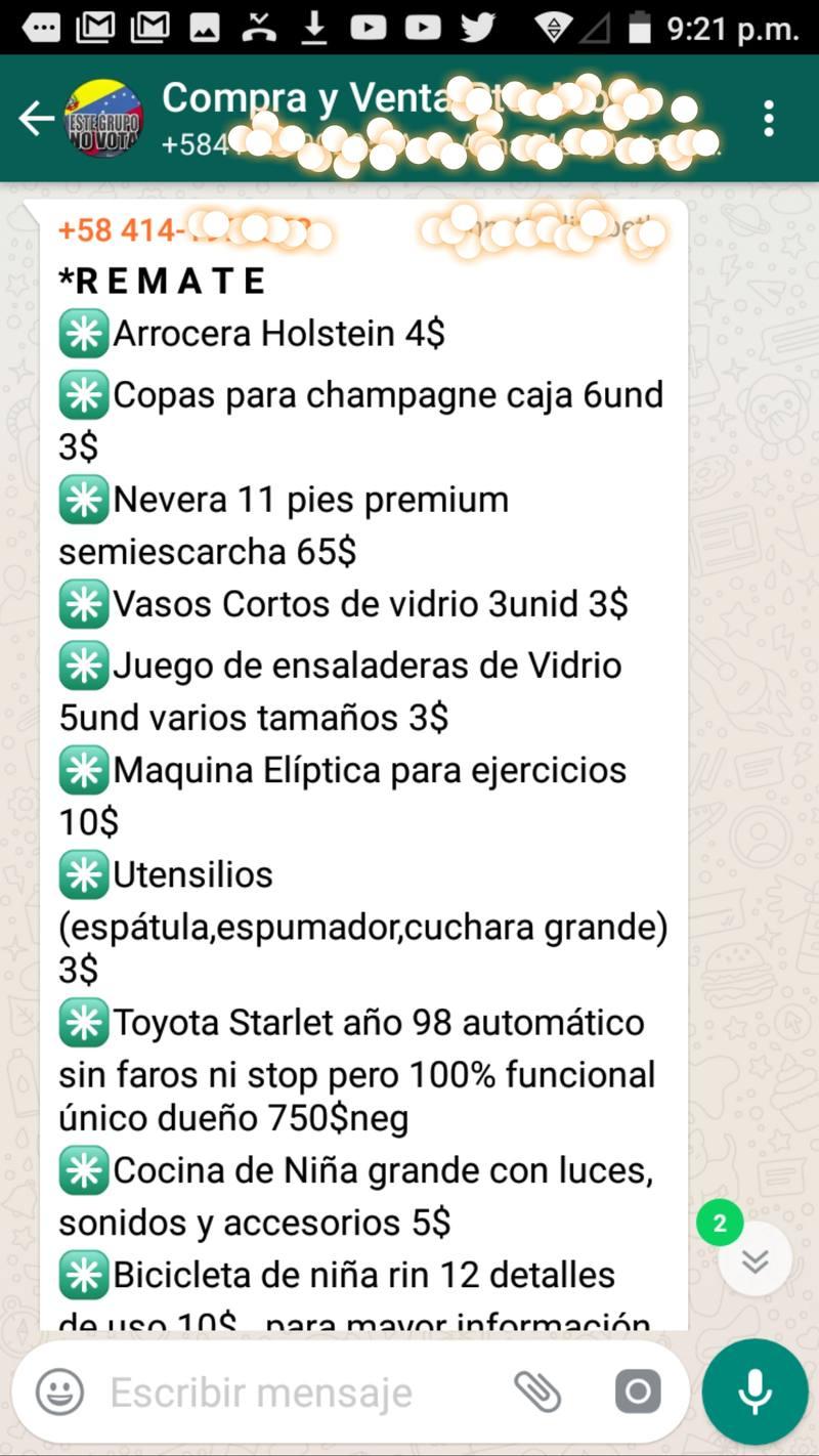 Los grupos de compra y venta de WhatsApp